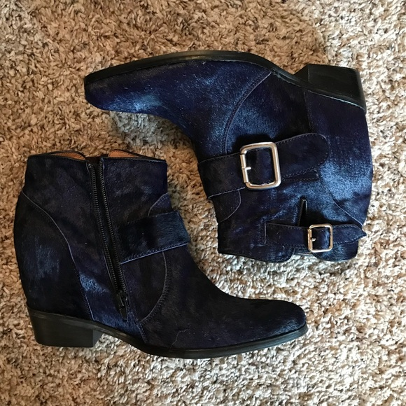 bb6588a7b1cb5b Jeffrey Campbell Calf Hair Ankle Bootie Wedge